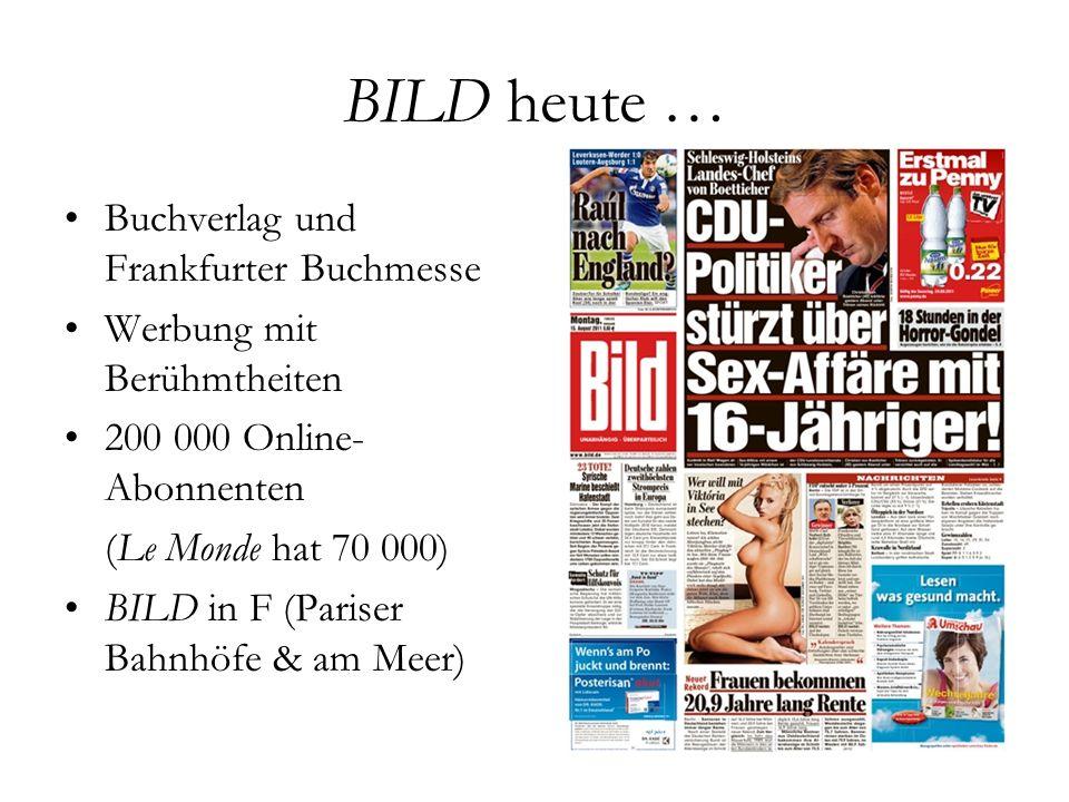 BILD heute … Buchverlag und Frankfurter Buchmesse