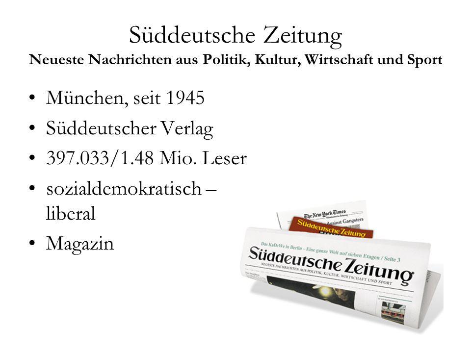 Süddeutsche Zeitung Neueste Nachrichten aus Politik, Kultur, Wirtschaft und Sport