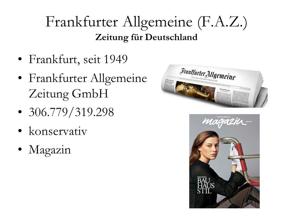 Frankfurter Allgemeine (F.A.Z.) Zeitung für Deutschland