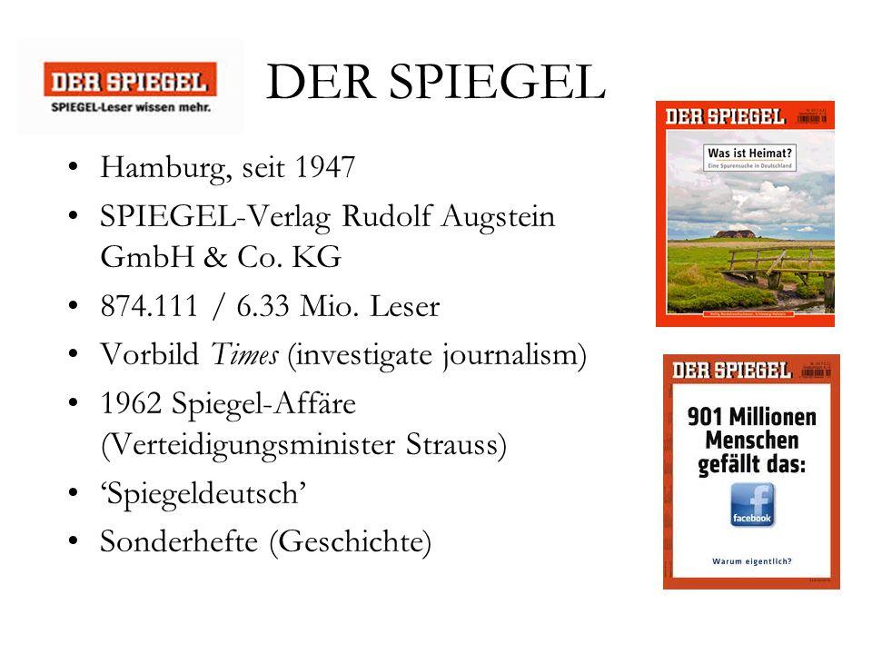 Deutsche presselandschaft ppt video online herunterladen for Der spiegel hamburg