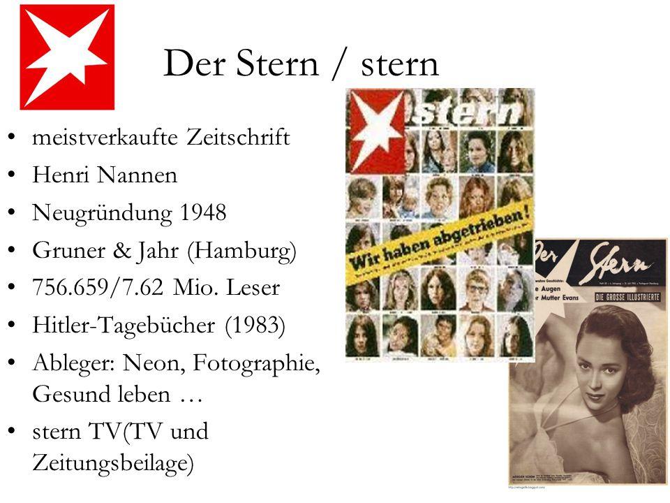 Der Stern / stern meistverkaufte Zeitschrift Henri Nannen