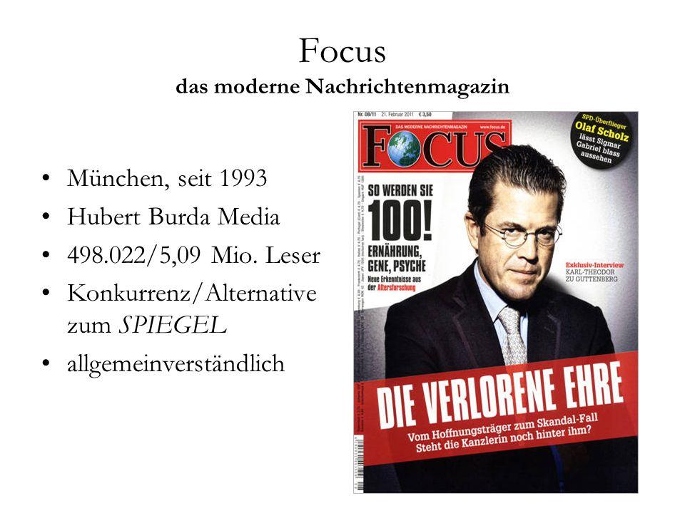 Focus das moderne Nachrichtenmagazin