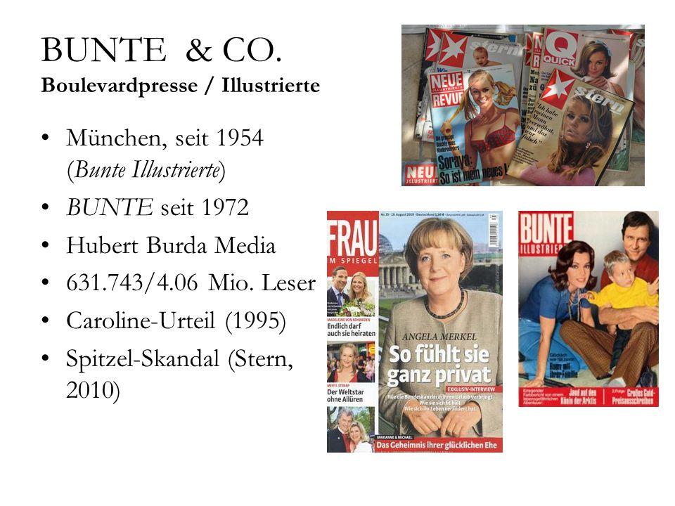 BUNTE & CO. Boulevardpresse / Illustrierte