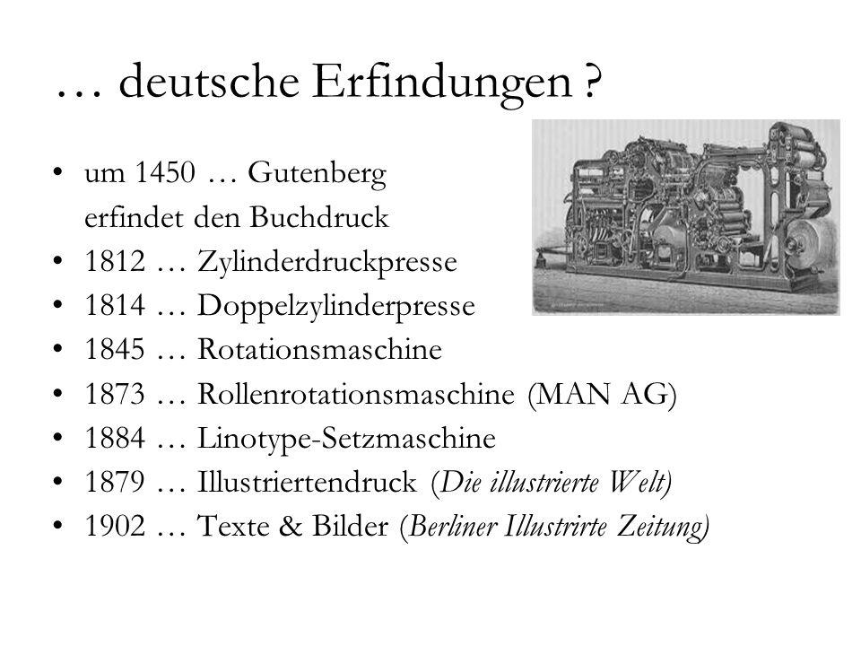 … deutsche Erfindungen