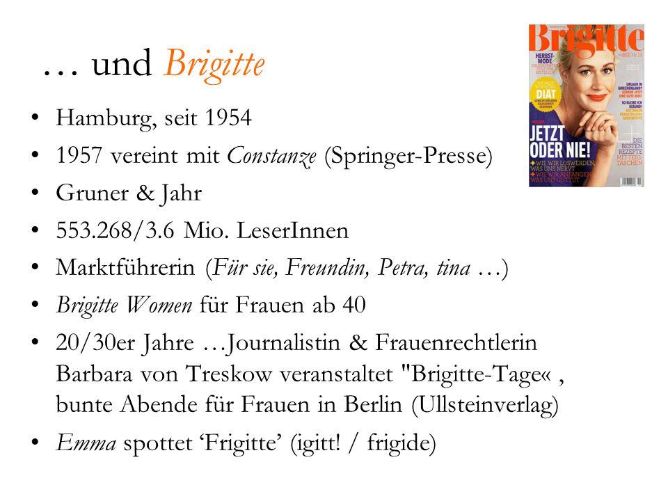 … und Brigitte Hamburg, seit 1954
