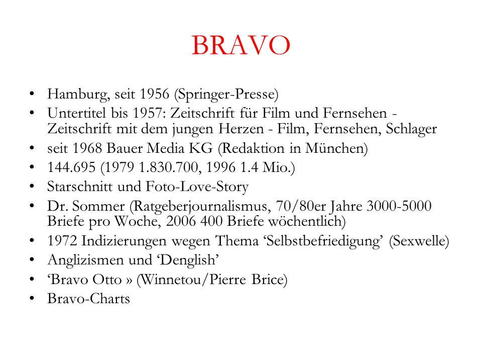 BRAVO Hamburg, seit 1956 (Springer-Presse)