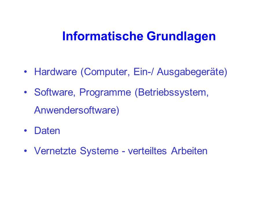 Informatische Grundlagen