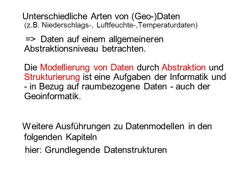 Weitere Ausführungen zu Datenmodellen in den folgenden Kapiteln