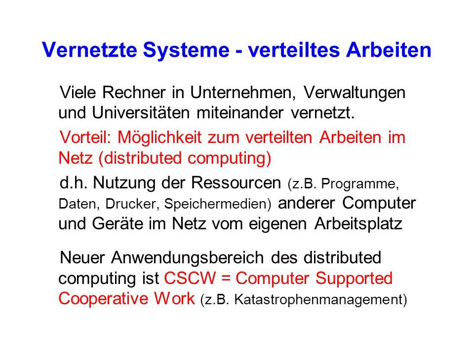 Vernetzte Systeme - verteiltes Arbeiten