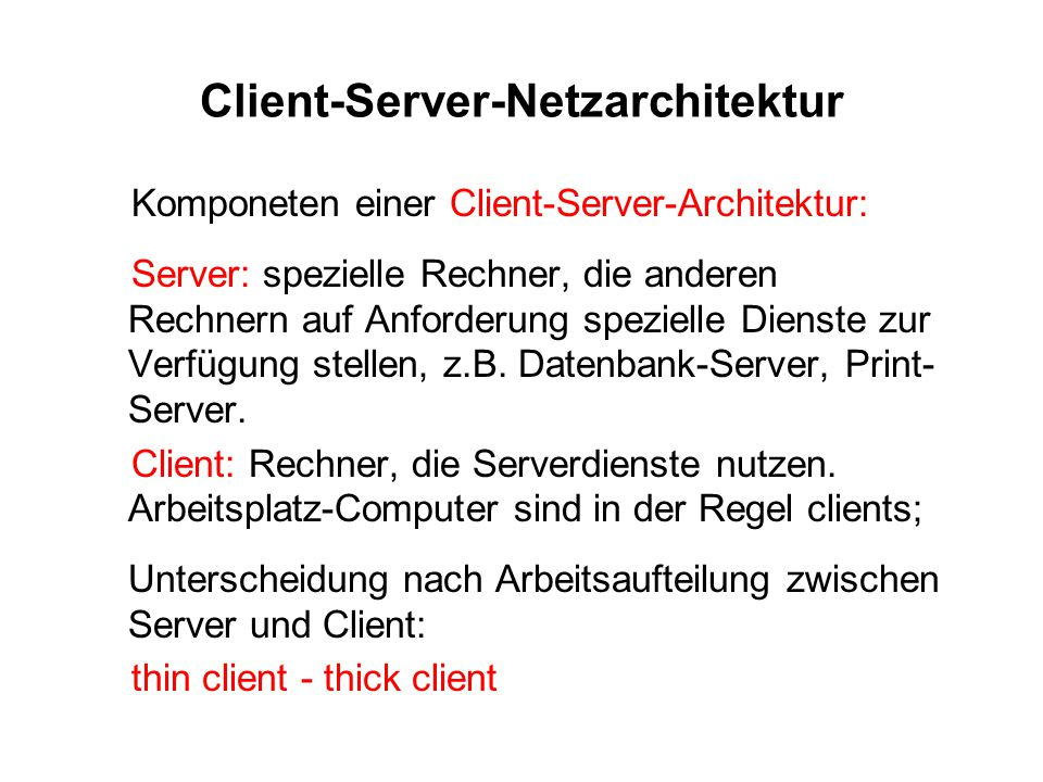 Client-Server-Netzarchitektur