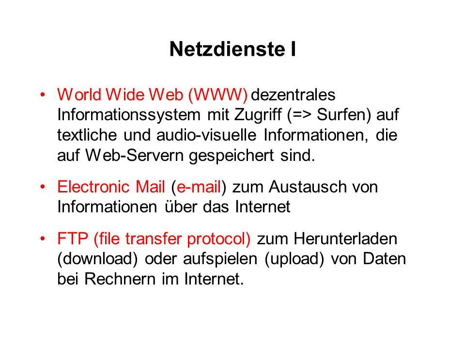 Netzdienste I