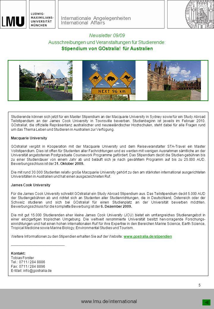 Stipendium von GOstralia! für Australien