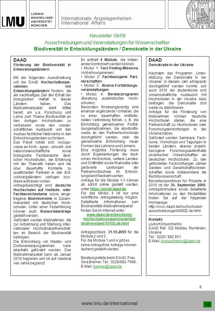 Biodiversität in Entwicklungsländern / Demokratie in der Ukraine