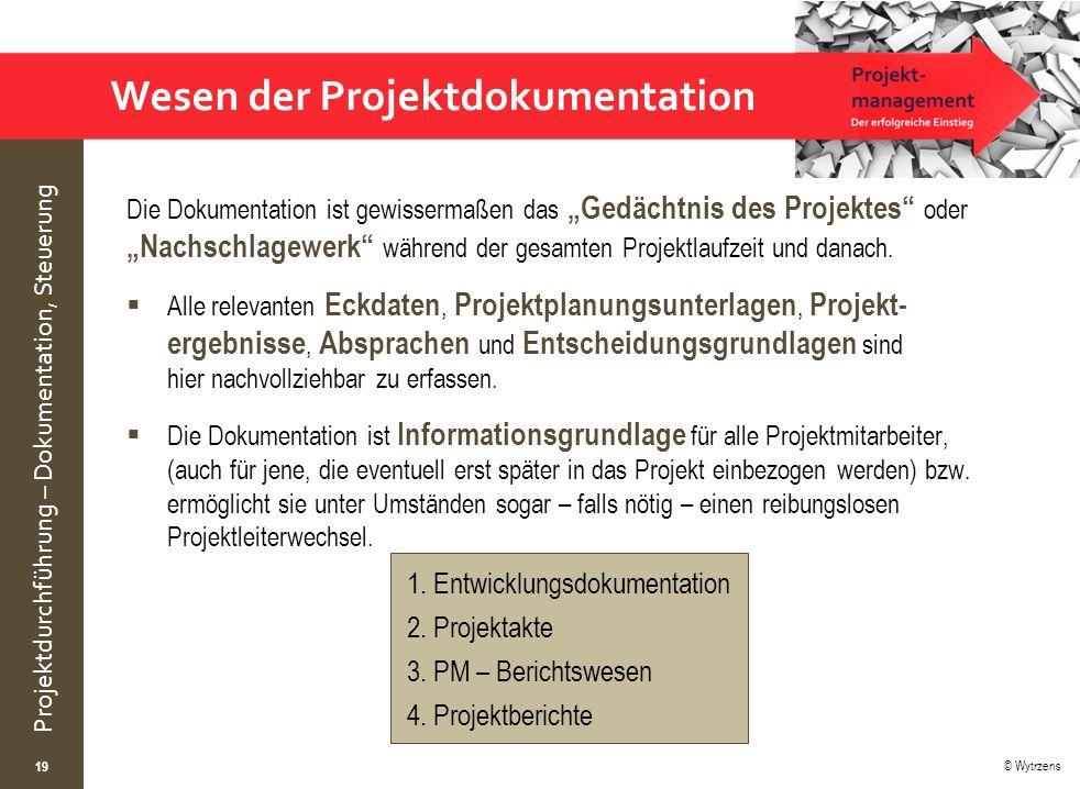 Wesen der Projektdokumentation