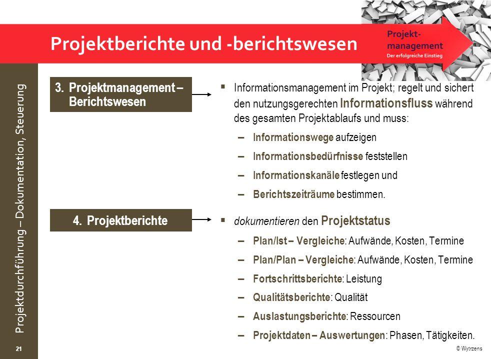 Projektberichte und -berichtswesen
