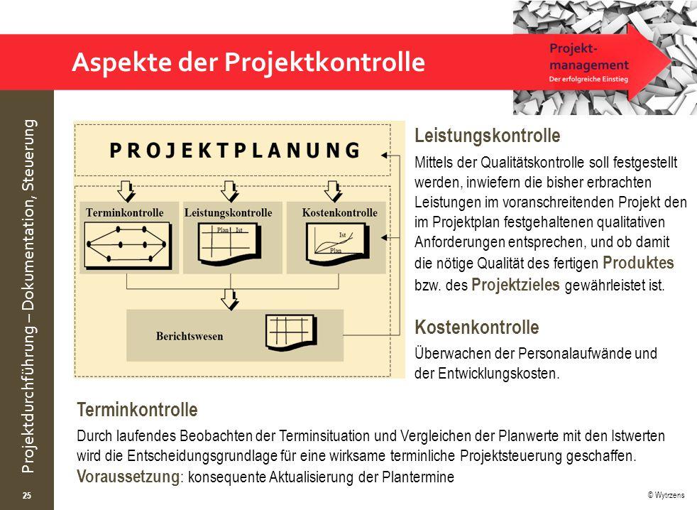 Aspekte der Projektkontrolle