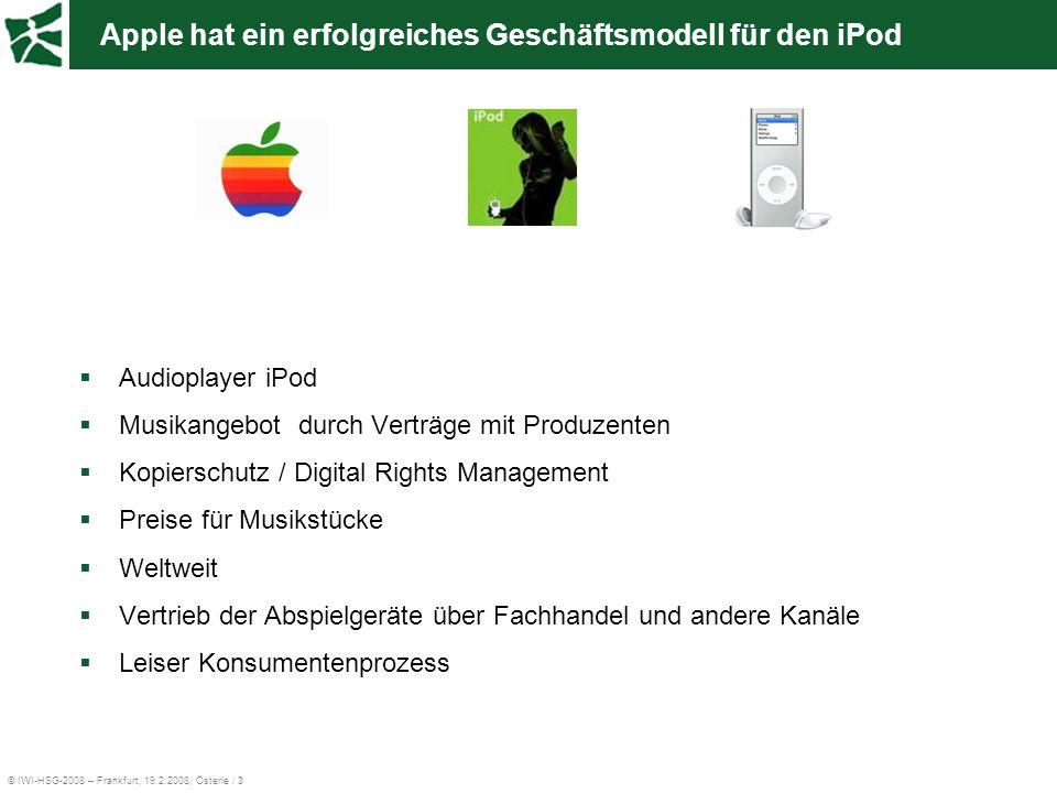 Apple hat ein erfolgreiches Geschäftsmodell für den iPod