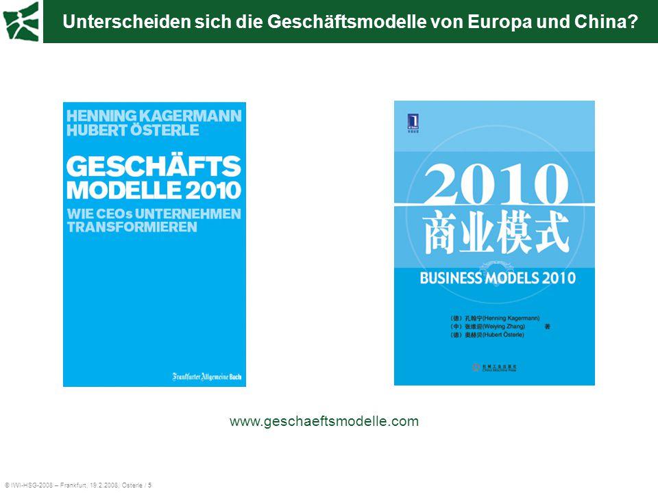Unterscheiden sich die Geschäftsmodelle von Europa und China