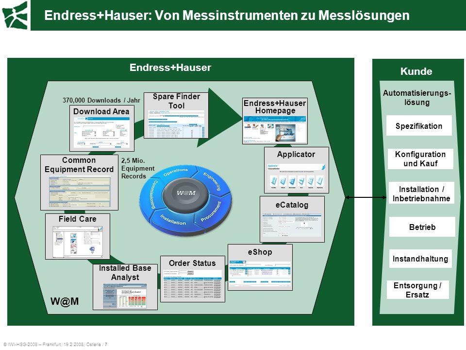 Endress+Hauser: Von Messinstrumenten zu Messlösungen