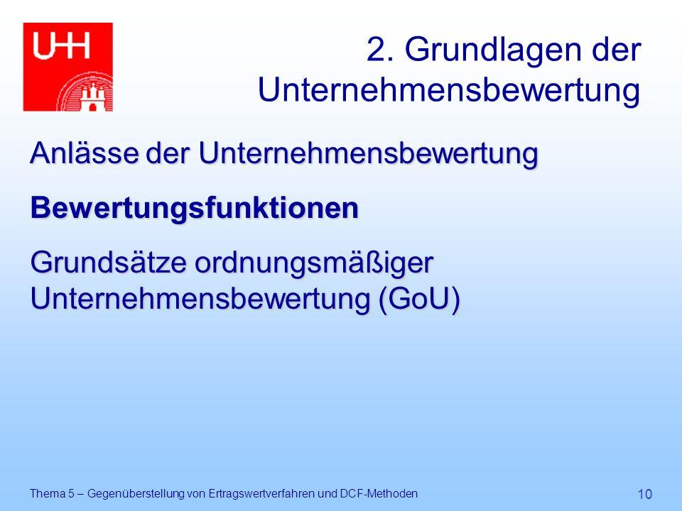 2. Grundlagen der Unternehmensbewertung