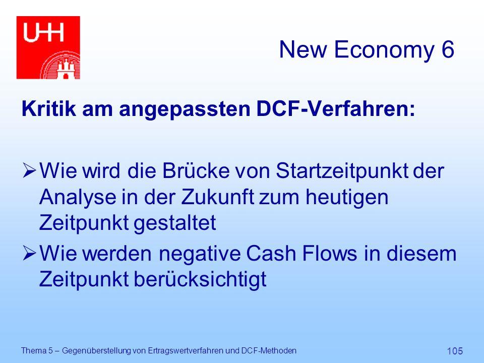 New Economy 6 Kritik am angepassten DCF-Verfahren: