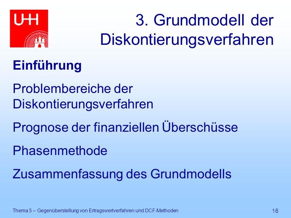 3. Grundmodell der Diskontierungsverfahren