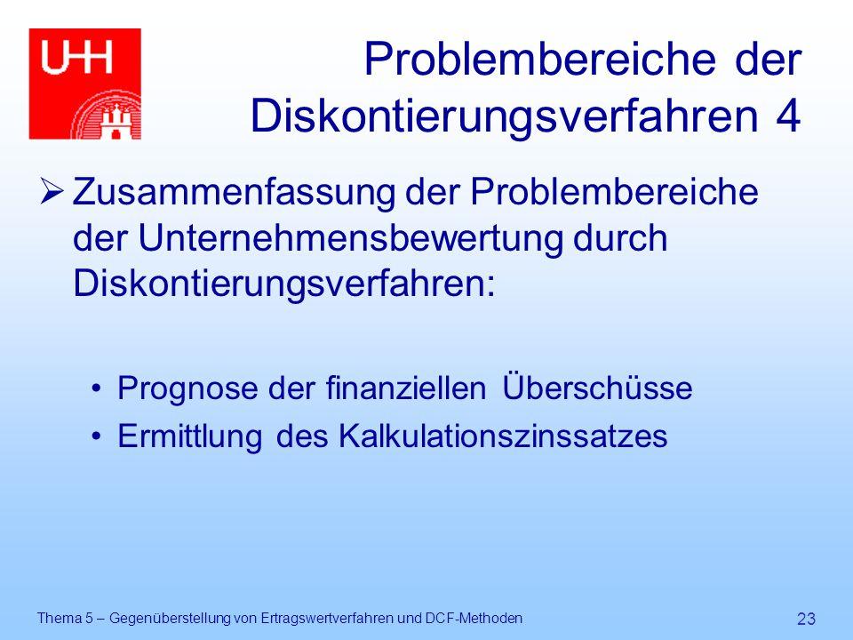 Problembereiche der Diskontierungsverfahren 4