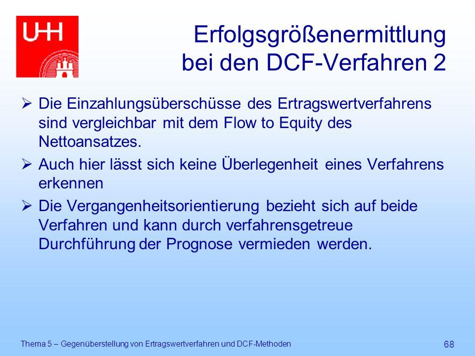 Erfolgsgrößenermittlung bei den DCF-Verfahren 2