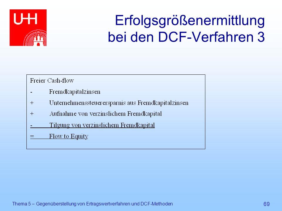 Erfolgsgrößenermittlung bei den DCF-Verfahren 3