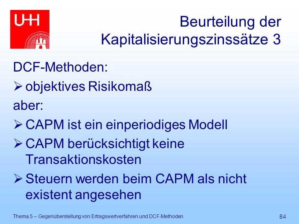 Beurteilung der Kapitalisierungszinssätze 3