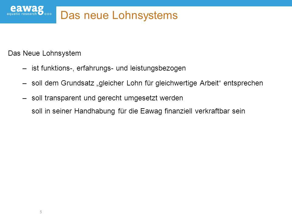 Das neue Lohnsystems Das Neue Lohnsystem