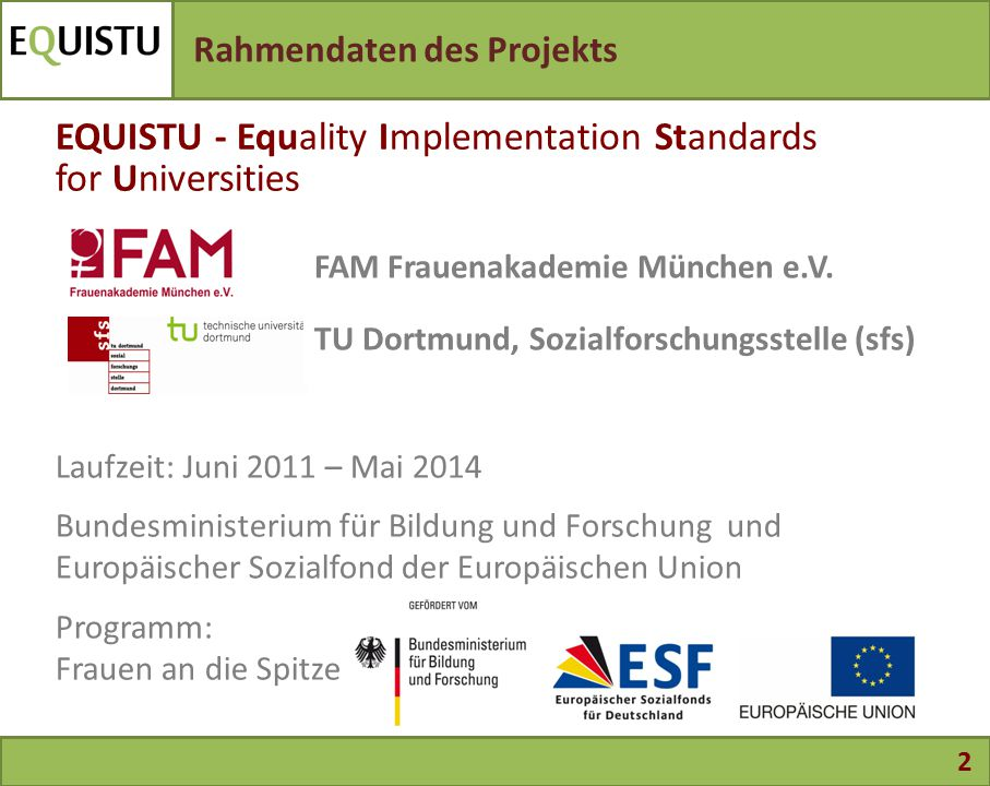 EQUISTU - Equality Implementation Standards for Universities