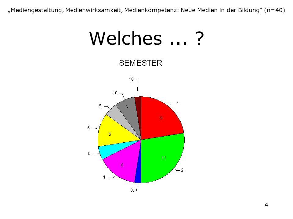 """""""Mediengestaltung, Medienwirksamkeit, Medienkompetenz: Neue Medien in der Bildung (n=40)"""