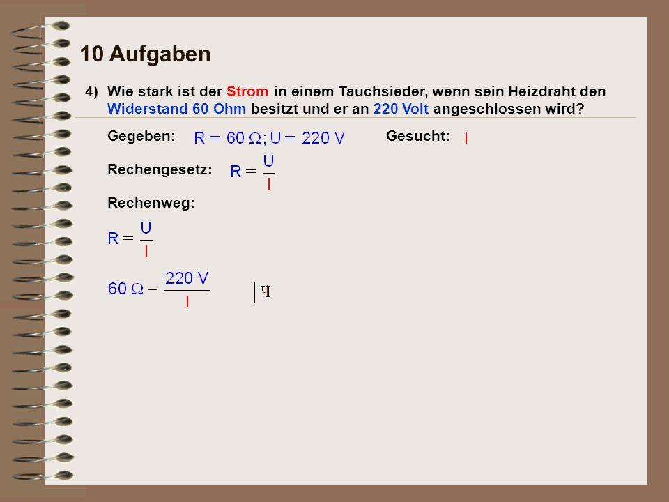 10 Aufgaben 4)