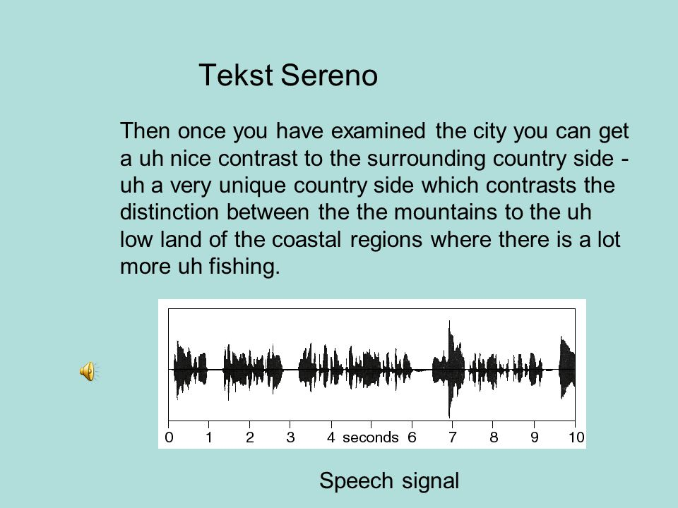 Tekst Sereno