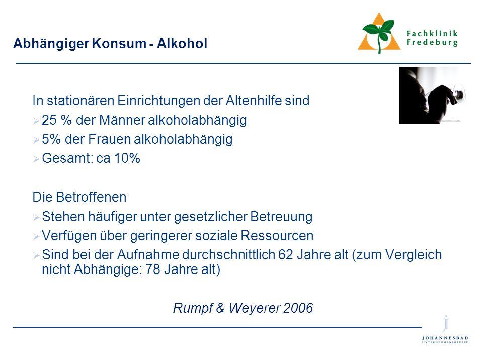 Abhängiger Konsum - Alkohol
