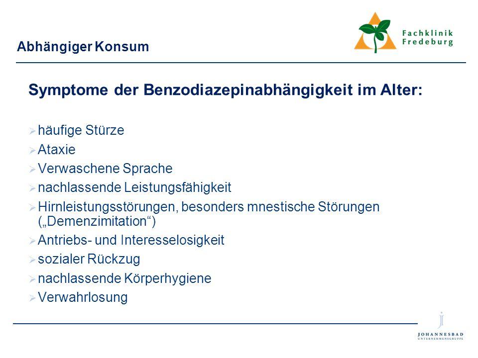 Symptome der Benzodiazepinabhängigkeit im Alter: