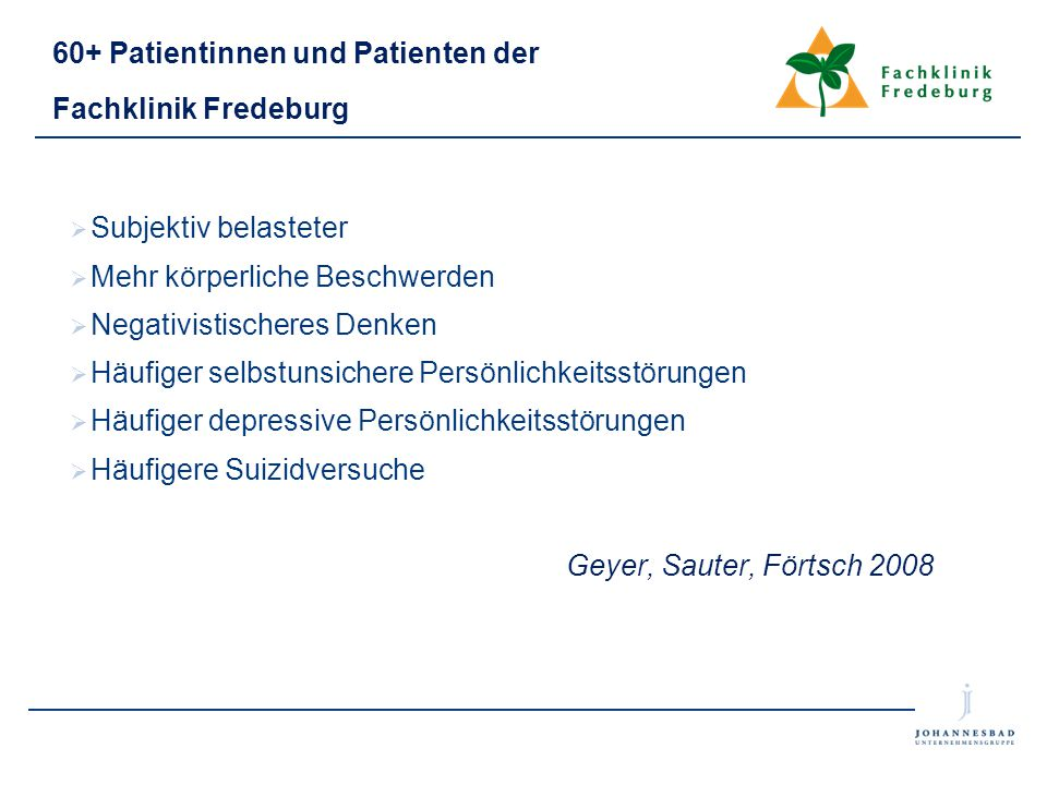 60+ Patientinnen und Patienten der Fachklinik Fredeburg