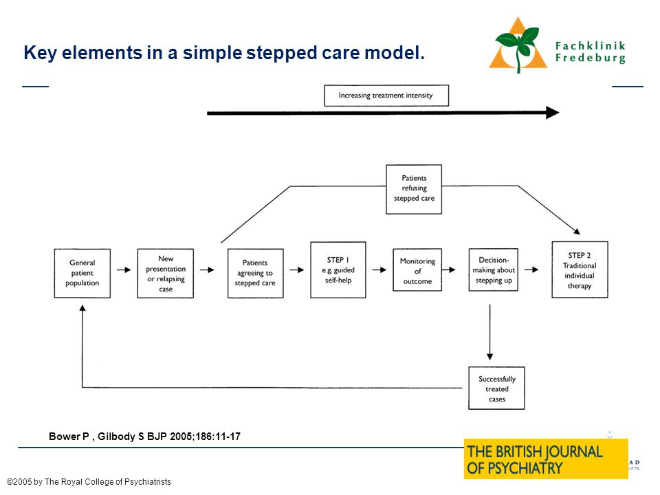 Key elements in a simple stepped care model.