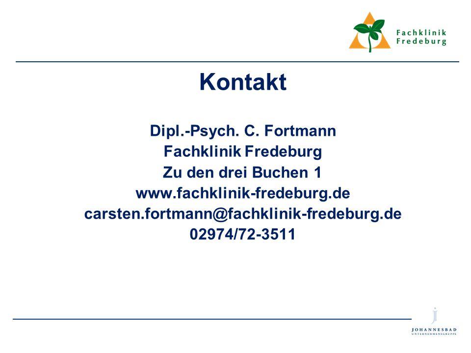 Kontakt Dipl.-Psych. C. Fortmann Fachklinik Fredeburg
