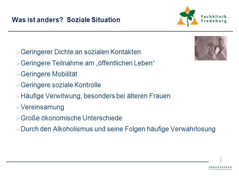 Was ist anders Soziale Situation