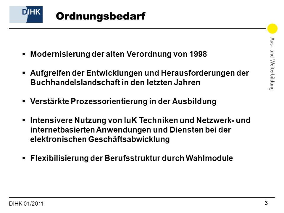 Ordnungsbedarf Modernisierung der alten Verordnung von 1998