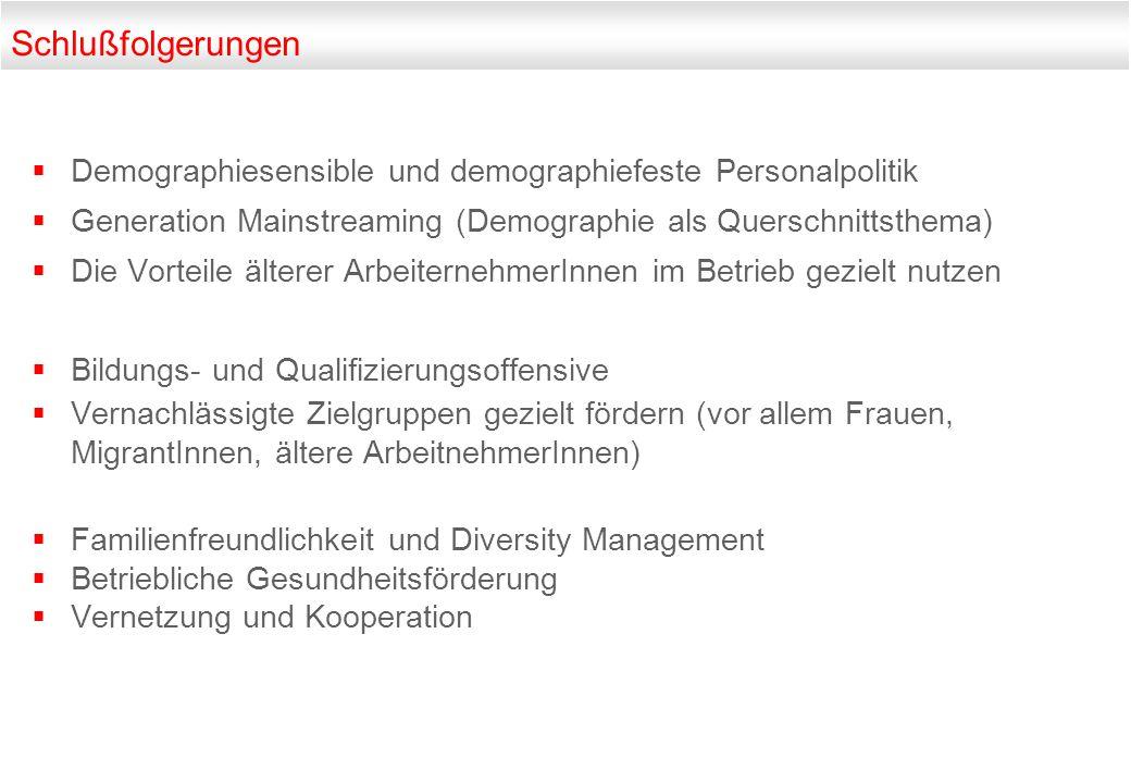 Schlußfolgerungen Demographiesensible und demographiefeste Personalpolitik. Generation Mainstreaming (Demographie als Querschnittsthema)