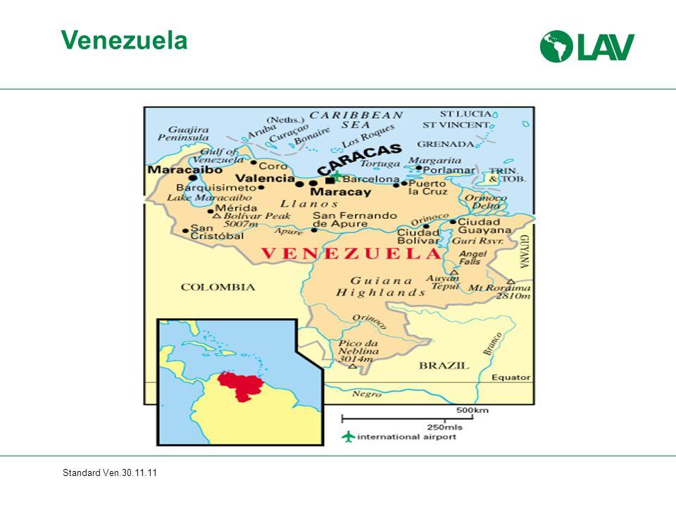 Venezuela Gesamte Folie erscheint sofort Standard Ven.30.11.11