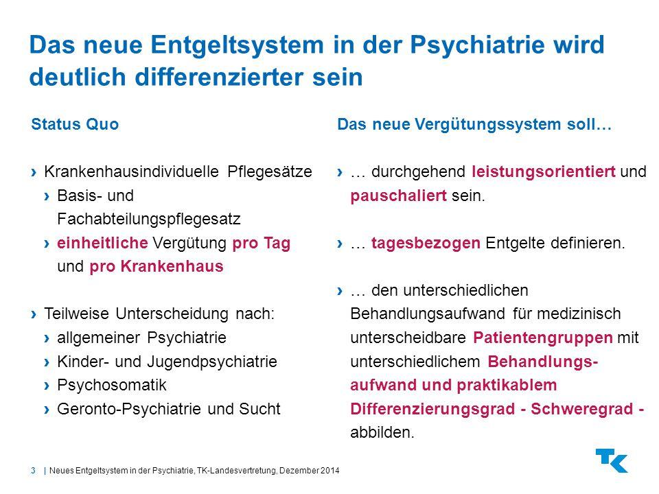Das neue Entgeltsystem in der Psychiatrie wird deutlich differenzierter sein