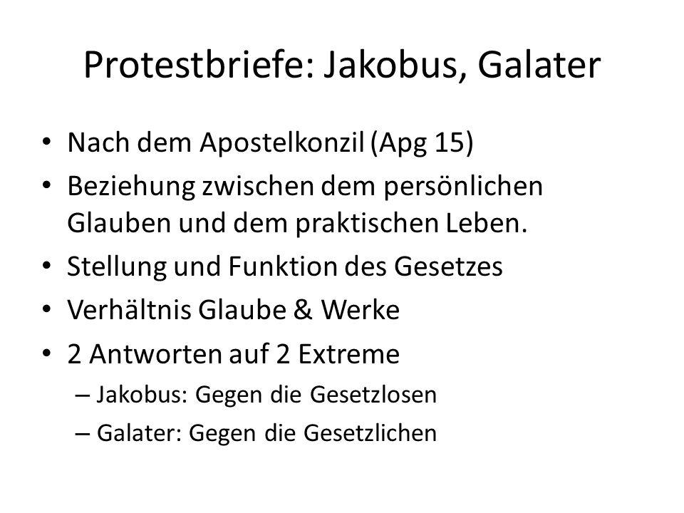 Protestbriefe: Jakobus, Galater