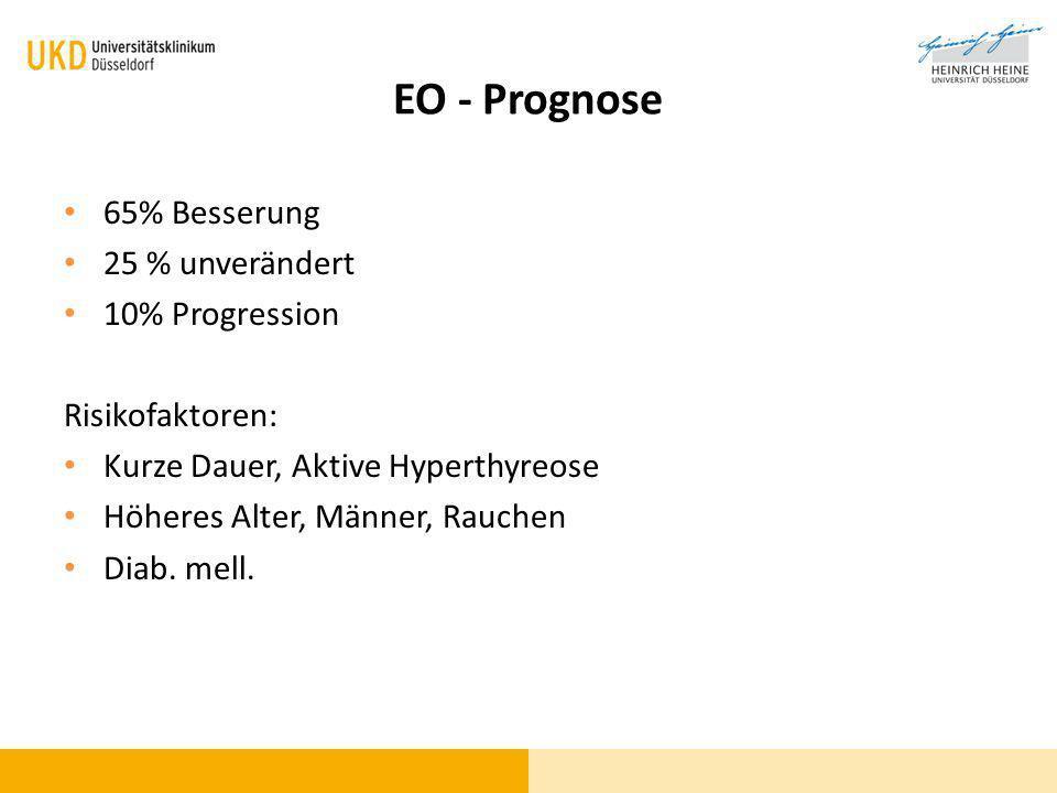 EO - Prognose 65% Besserung 25 % unverändert 10% Progression
