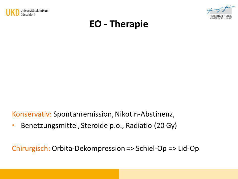 EO - Therapie Konservativ: Spontanremission, Nikotin-Abstinenz,