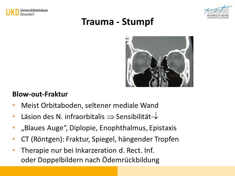 Trauma - Stumpf Blow-out-Fraktur