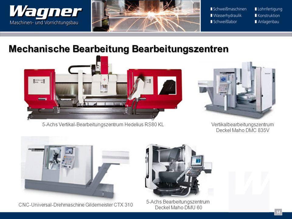 Mechanische Bearbeitung Bearbeitungszentren